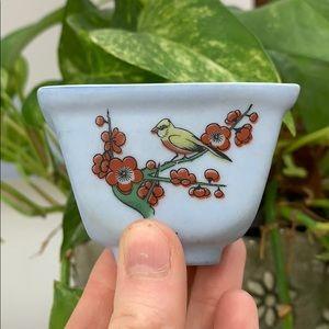 Vintage Blue Bird Vase, Home Decoration